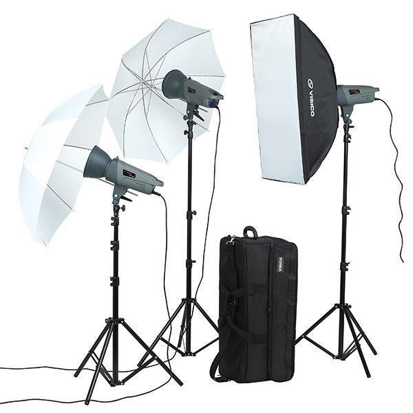 Studio Lighting Rental: Visico VL-400 PLUS 3 Heads Studio Lights